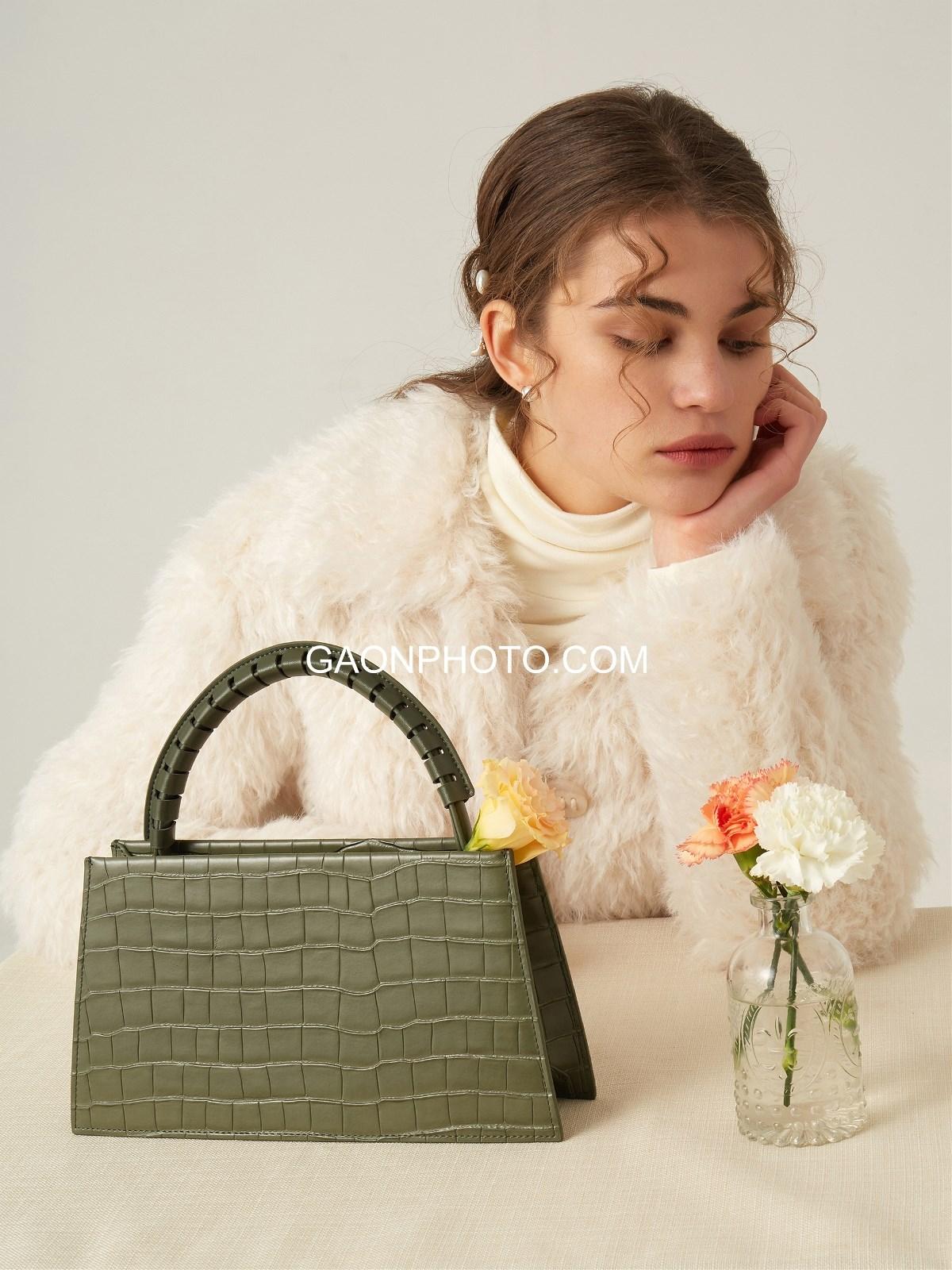 高恩广告#法式轻奢风包包拍摄