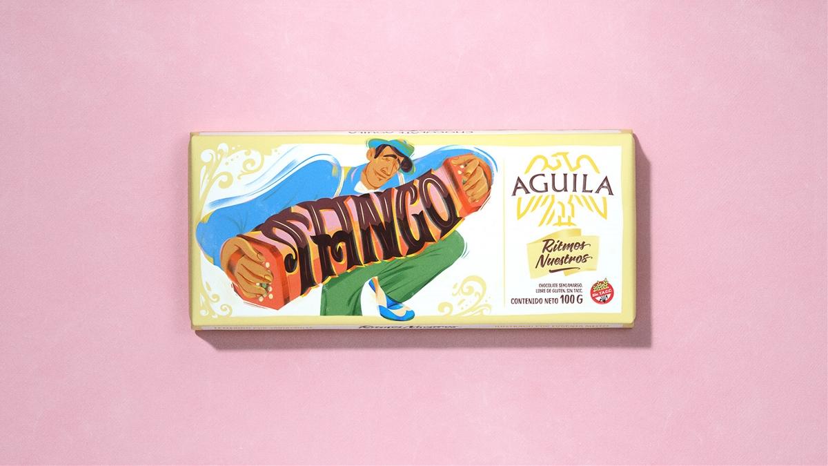 包装设计欣赏   食品 咖啡 巧克力 零食 茶 插画 手绘