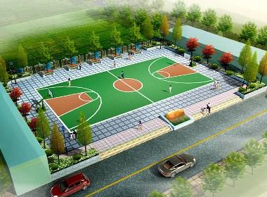 室内外篮球场设计案例效果图
