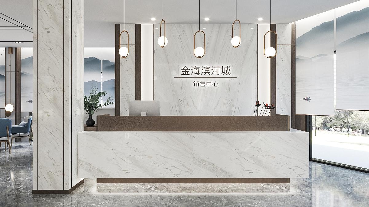 新中式售楼处,古韵时尚的山水画卷!