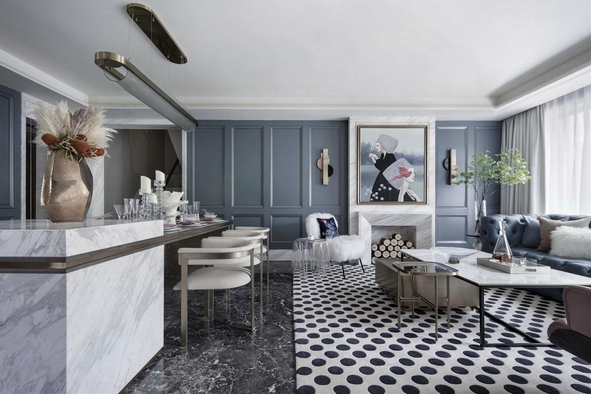 400㎡法式浪漫别墅,致敬经典的现代优雅演绎!
