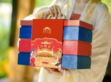国潮风阿胶糕包装设计