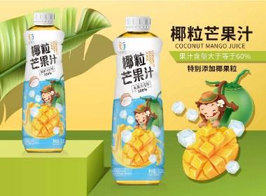 六鹿品牌设计----椰粒芒果汁