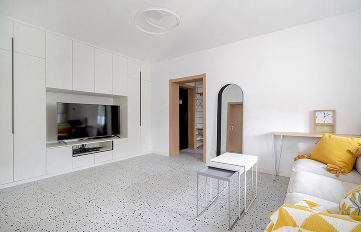 「久栖设计」水磨石+色块的日式小家,充满温馨与颜值