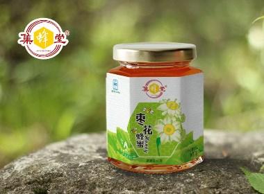 百纳出品   集蜂堂 · 百花蜂蜜系列包装设计案例