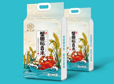 蟹田稻香米/大米包装