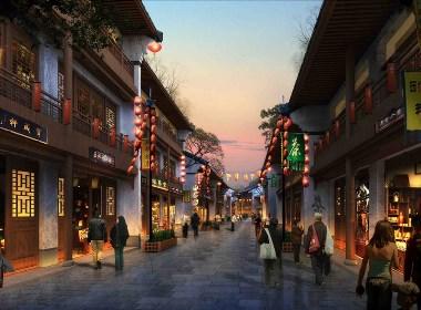 古建商业街建筑外观设计案例效果图