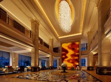 酒店大厅大堂室内设计案例效果图