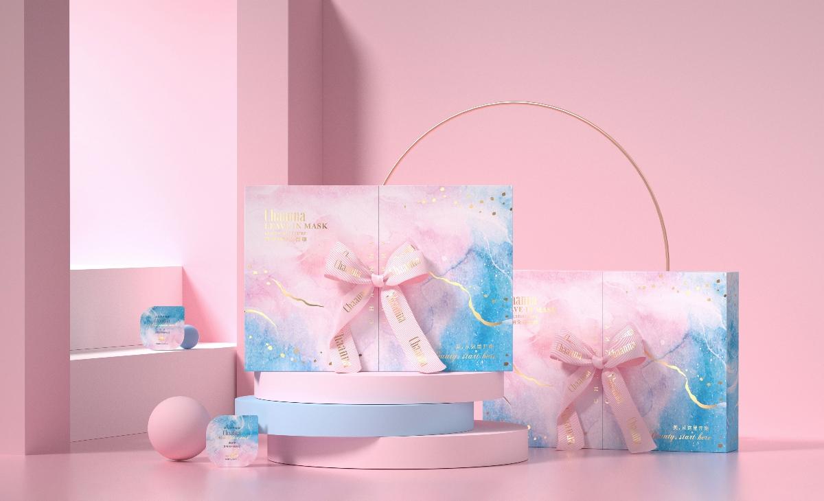 面膜品牌产品全套包装设计:护肤产品的包装如何俘获少女心?