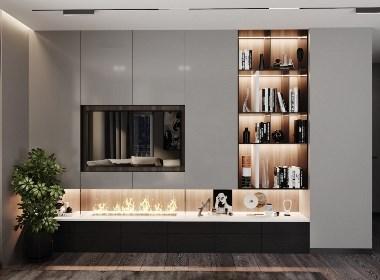 黑巧克力色系-公寓的设计
