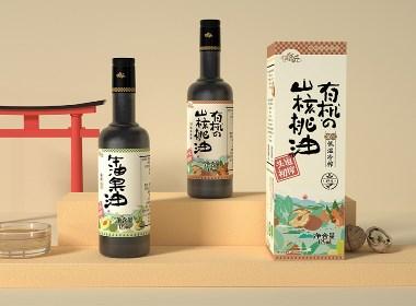 五克氮²×日式有机食用油 包装设计