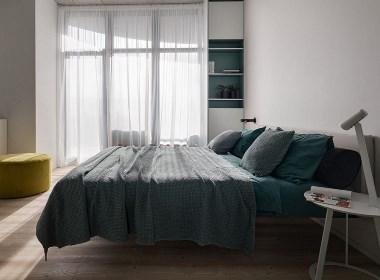 布局全开放,白色+深灰色,打造舒服温馨的家。