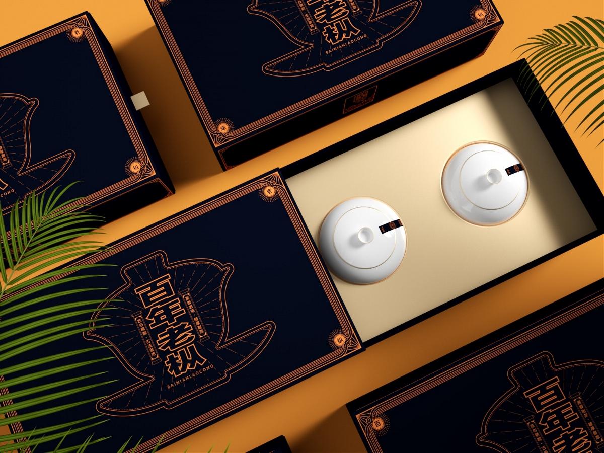 百年老纵包装设计套盒