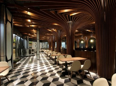 休闲酒吧餐厅室内设计案例效果图