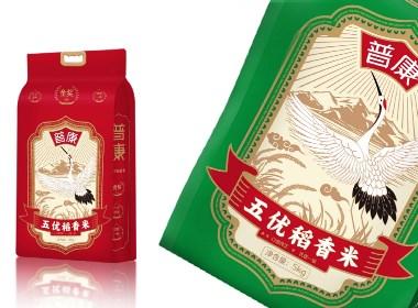 普康五优稻花香大米包装设计