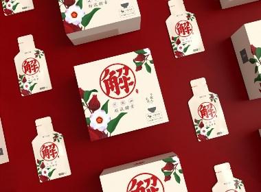 食品包装盒、解油解腻解肥包装、日式清新冲泡饮料包装