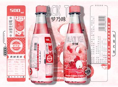 原创手绘插画风格的气泡饮料包装设计
