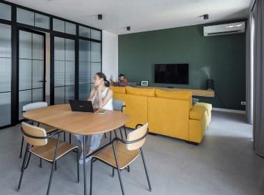 时尚小公寓设计,色彩让家更出彩!