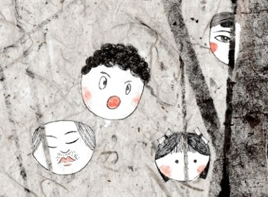 一起欢乐 香瓜子 插画 手绘 特产 人物 食品 包装 设计