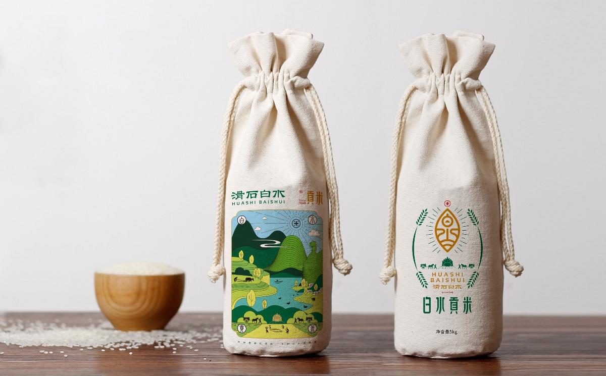 滑石白水大米包装设计 × 枫桥设计