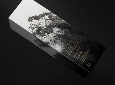 高山野生山茶油 插畫 手繪 特產 食用油 食品 包裝 設計