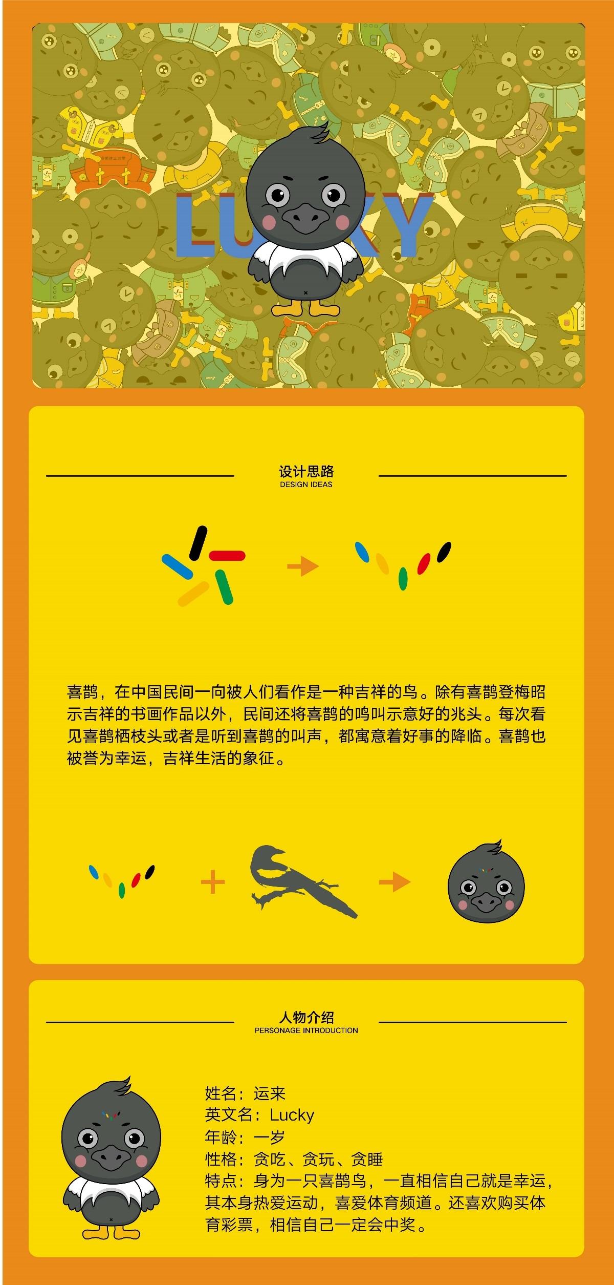 """体彩""""好运""""喜鹊鸟IP形象设计"""