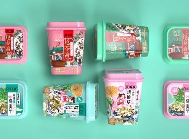 沃爱广告 和味亨 —— 烧仙草 龟苓膏包装设计