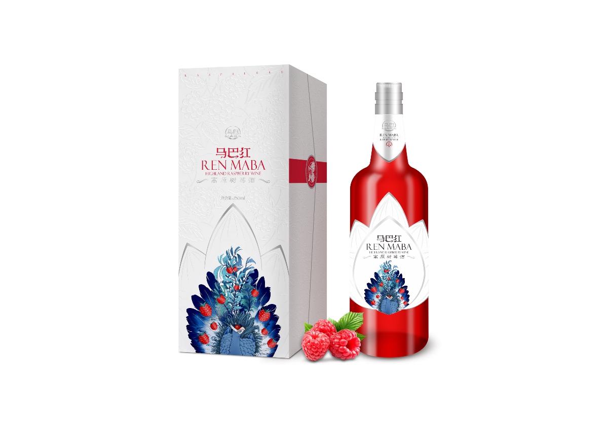 马巴红高原树莓酒包装