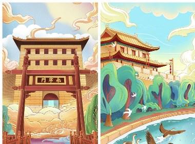 西安国风插画