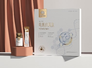 保健包装设计 乌鸡白凤肽 固体饮料 压片糖果包装设计©刘益铭 原创作品