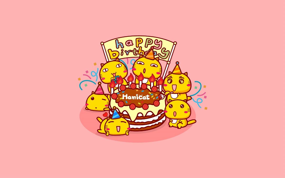 哈咪猫10岁生日快乐