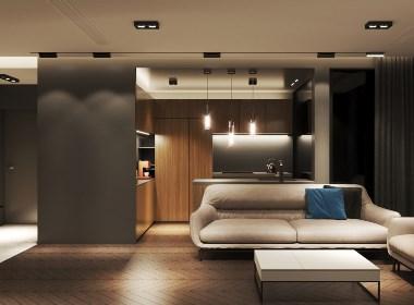 NEEN DESIGN · 白云 富力桃园:灰色的色调将组合成一个整体