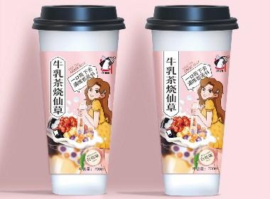 六鹿设计x奶白兔-牛乳茶烧仙草系列