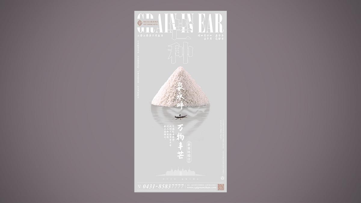 线上营销海报 · 温泉酒店 Online poster · Hot Spring Hotel