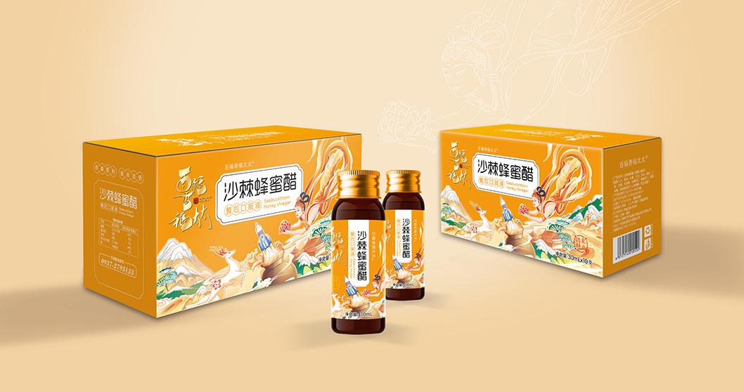 一家太太福三代|系列甜醋 包装设计