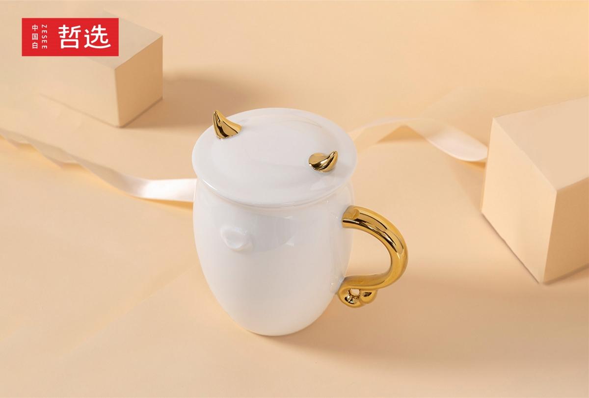 【 中国白·哲选 】新品曝光 金牛送福 陶瓷马克杯