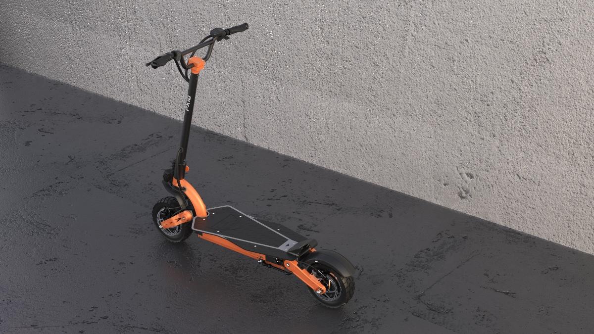 新款双驱越野电动滑板车