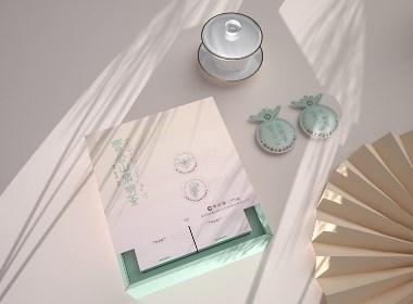 小清新茶叶包装套盒设计