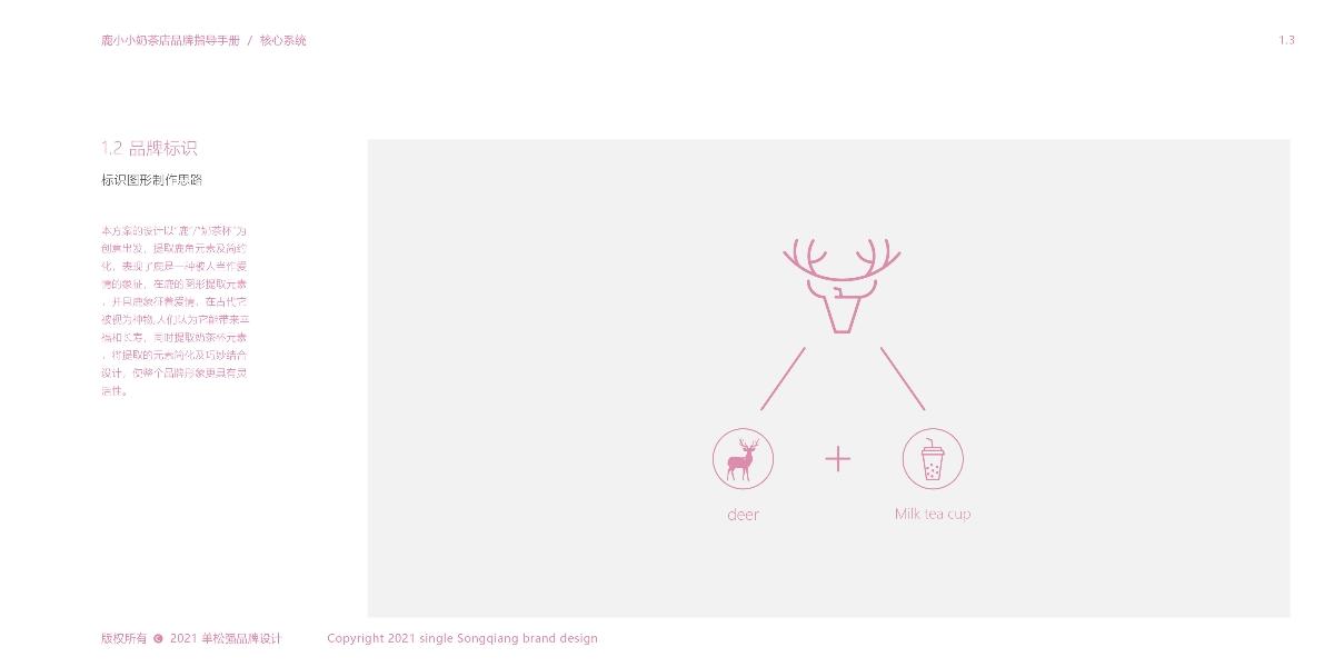 【VI设计】 & 鹿小小奶茶品牌设计