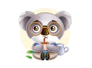 奶茶卡通形象设计