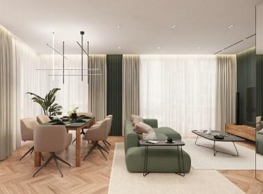 现代简约糖果色系公寓 既温馨又舒适