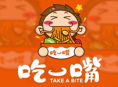 休闲食品标志餐饮商标设计卡通LOGO形象小吃品牌标志