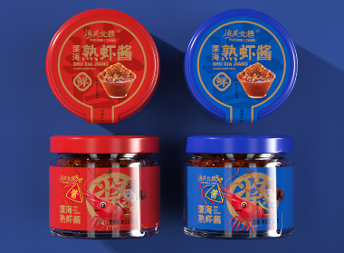 """沃爱广告 渔夫北塘 —— 行""""虾""""仗义,聚味鲜酱!虾酱、酱料包装设计"""
