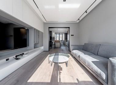 「久栖设计」110㎡现代简约,打造时尚舒适的灰度空间