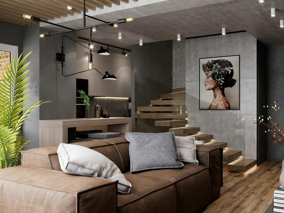 72㎡复式小空间设计 小而舒适