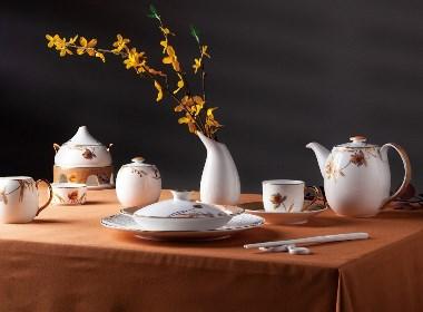 英式奢华套装高档骨瓷陶瓷餐具礼品 九思品牌设计设计