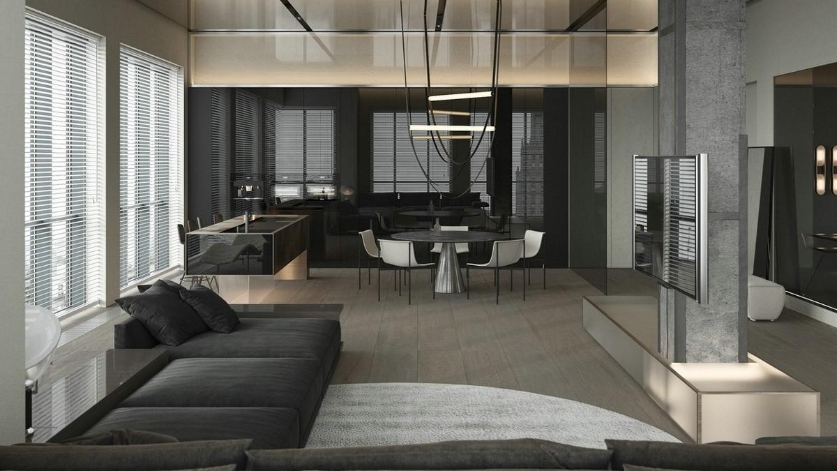 高级灰色系质感公寓 细节超多