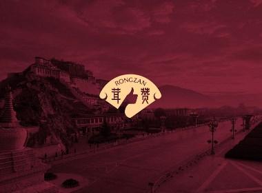 中国风国潮西藏拉萨松茸包装设计logo设计