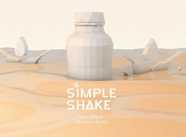 五克氮²×SimpleShake | 燕麦乳饮品包装设计