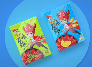 沃爱广告|飞杰 —— 何以解馋?小龙虾独领风骚!小龙虾包装设计